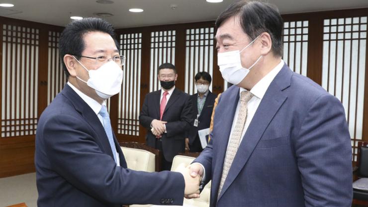 김영록 지사, 싱하이밍 주한 중국대사와 '관해미' 회담