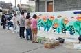충주시사회적기업협의회 , 벽화그리기 봉사 진행