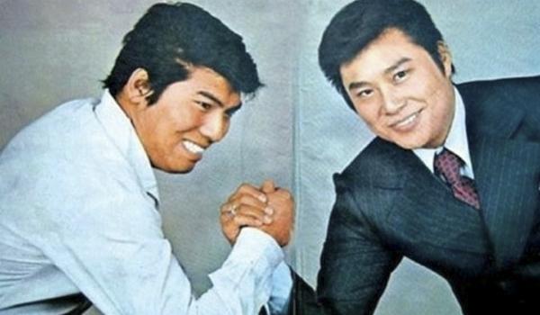 국민가수로 사랑을 받은 라이벌 관계였던 나훈아 와 남진.